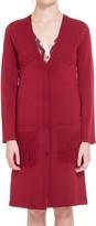 Max Studio Fringed Sweater Coat