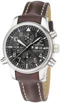 Fortis Men's F43 Flieger,steel,chronograph, Alarm, Limited Edition, Black Dial Watch.