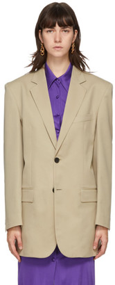 Kwaidan Editions Beige Wool Single-Breasted Blazer