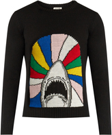 Saint Laurent Shark-jacquard wool sweater