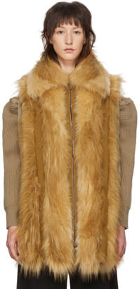 Stella McCartney Brown Faux-Fur Vest