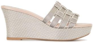 Rene Caovilla Woven Wedge Sandals