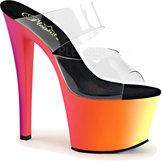 Pleaser USA Women's Rainbow 302UV Slide