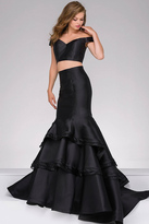 Jovani Two-Piece Off the Shoulder Long Mermaid Prom Dress 46866