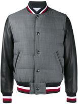 Moncler Gamme Bleu varsity jacket - men - Cotton/Feather Down/Sheep Skin/Shearling/Wool - 2