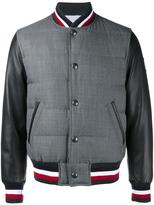 Moncler Gamme Bleu varsity jacket - men - Wool/Cupro/Feather Down/Sheep Skin/Shearling - 2