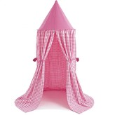 The Well Appointed House BARGAIN BASEMENT ITEM: Child's Gingham Candy Pink Hanging Play Tent