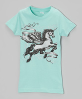 Micro Me Aqua Chill Pegasus Tee - Infant Toddler & Girls