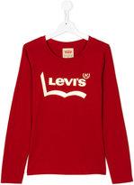 Levi's Kids teen long sleeve printed T-shirt