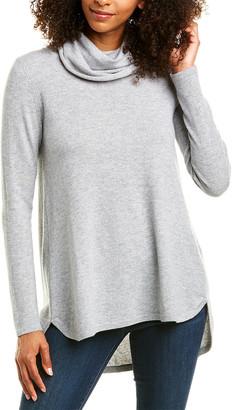 Forte Cashmere Cowl Pleat Cashmere Tunic
