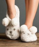 Lemon Legwear Women's Socks POWDER - Powder Iceland Bear Slipper Socks - Women