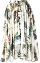 Olympia Le-Tan printed flared skirt - women - Viscose - 36
