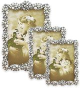 Tizo Design Faux-Pearl Cluster Jeweltone with Crystals Picture Frame