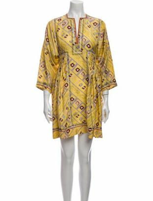 Isabel Marant Silk Mini Dress Yellow