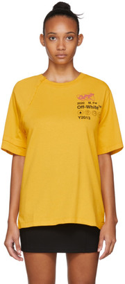 Off-White Off White Yellow Industrial Reconstructed T-Shirt