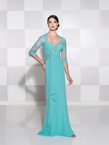 Mon Cheri Cameron Blake by Mon Cheri - 115612 Dress In Dark Aqua