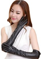 Simplicity Sexy Gothic Glam Punk Wet Look Long Gloves