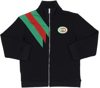 Gucci Zip-up Cotton Sweatshirt