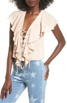 Show Me Your Mumu Women's Lace-Up Blouse