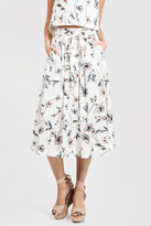 J.o.a. Floral Button-Down Skirt