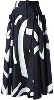 Max Mara 'Ali Fantasy' print skirt - women - Polyester - 40