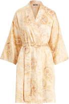 Ralph Lauren Paisley Satin Kimono Robe