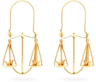 Givenchy Libra Zodiac Hoop Earrings - Womens - Gold