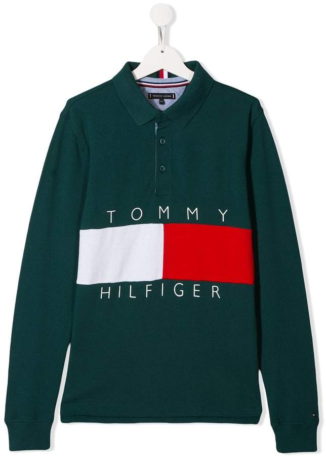 Tommy Hilfiger Junior printed logo polo shirt