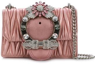 Miu Miu embellished matelassé shoulder bag