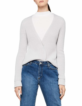 Meraki Amazon Brand Women's Chunky Wool-Blend Rib Cardigan