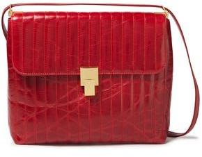 Victoria Beckham Quilted Crinkled-leather Shoulder Bag