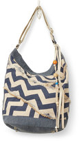 Toms Indigo Chevron Canvas Journey Bucket