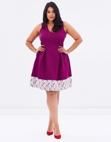 V-Neck Lace Hem Dress