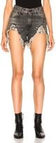 R 13 Shredded Slouch Short
