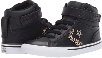 Converse Pro Blaze Strap Leopard Print (Little Kid/Big Kid) (Black/Desert Ore/Rose Gold) Girl's Shoes