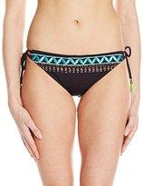 Nanette Lepore Women's Mantra Embroidery Vamp Bikini Bottom