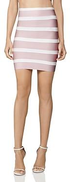 Herve Leger Vintage Striped Mini Skirt