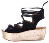 See by Chloe Suede Lace-Up Platform Sandals