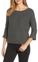 Velvet by Graham & Spencer Women's Lace-Up Sleeve Ribbed Top