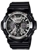 G-Shock Mens XL Black and Silver Ana Digi Watch