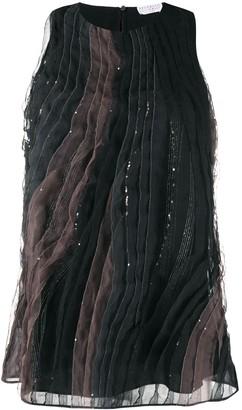 Brunello Cucinelli Pleated Silk Top
