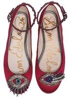 Sam Edelman Women's Ferrara Embellished Ankle Strap Flat