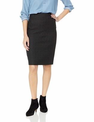 Kasper Women's Metallic Tweed Slim Skirt