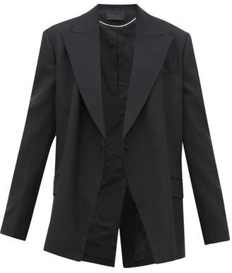 Proenza Schouler Detachable-lapel Wool-blend Twill Blazer - Black