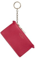 Smythson Women's Calfskin Leather Zip Pouch With Key Ring - Pink