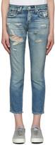 Amo Blue Tomboy Crop Jeans