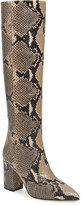Paris Texas Python Embossed Knee High Boots