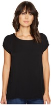 Allen Allen Short Sleeve Square Top Women's Short Sleeve Pullover