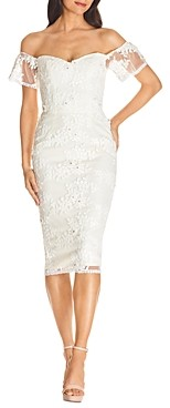 Dress the Population Tara Off-the-Shoulder Lace Bodycon Dress