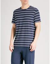 Derek Rose Mens Navy Classic Alfie Striped Jersey T-Shirt
